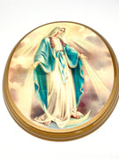 "Our Lady of Grace Oval Wood Plaque 10"" - Unique Catholic Gifts"