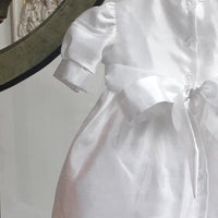 Baptismal Dress with Fancy Lace Edge White (Large)