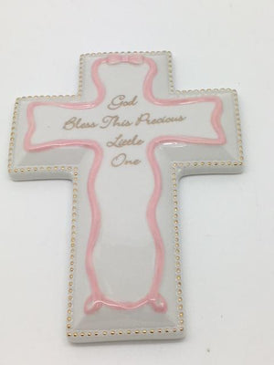 Child's Gift Wall Cross (Self-Personalize) Pink