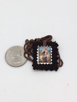 Small Brown Scapular Felt. - Unique Catholic Gifts