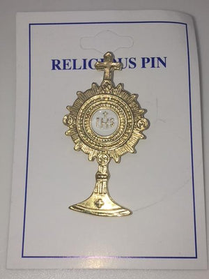Monstrance Pin (gold Plated)