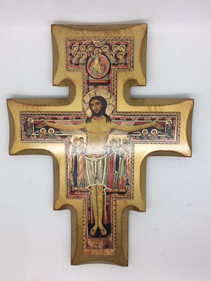 San Damiano Crucifix with Gold Trim 11