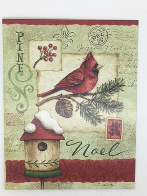 Deluxe Linen Christmas Cards - Pine Noel - Unique Catholic Gifts