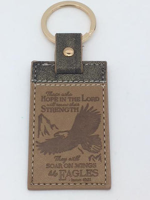 Keychain They will soar on wings like eagles.(Isaiah 40:31) - Unique Catholic Gifts