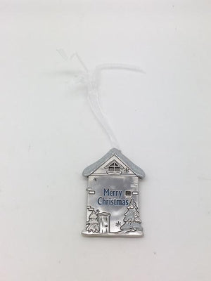 Merry Christmas House Ornament Plaque - Unique Catholic Gifts