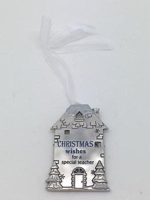 Christmas Wishes for a Special Teacher Ornament Plaque