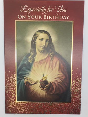 Sacred Heart of Jesus Birthday Card Greeting Card