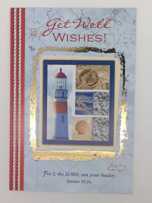 Get Well Wishes Greeting Card - Unique Catholic Gifts