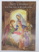 Christmas Card for a Nun Greeting Card - Unique Catholic Gifts