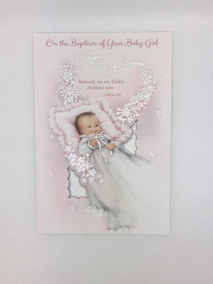 Your Baby Girl Baptism Greeting Card