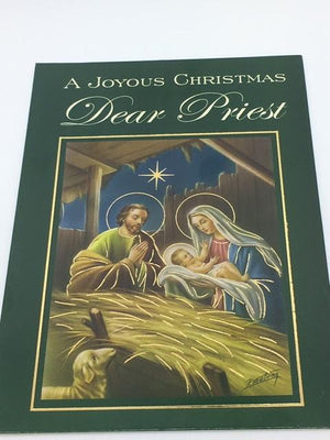 Joyous Christmas Dear Priest Greeting Card - Unique Catholic Gifts