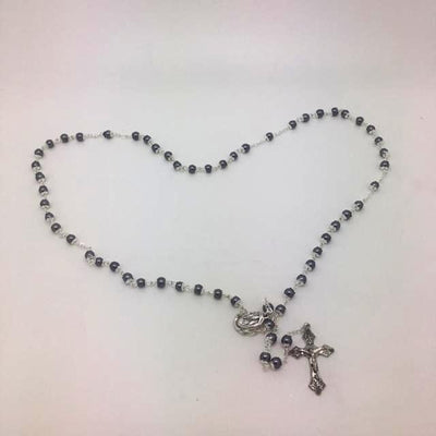 Silver and Hematite Rosary (5 mm) - Unique Catholic Gifts