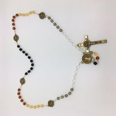 5 Color Glass Bead Benedict Rosary (6MM)