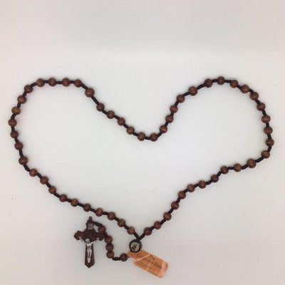 St. Joseph the Carpenter Rosary Dark Brown Wood - Unique Catholic Gifts