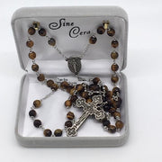 Genuine Tiger Eye Rosary (6mm) - Unique Catholic Gifts
