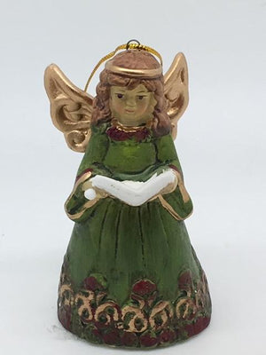 Hand Painted Porcelain Angel Bell Ornament (4
