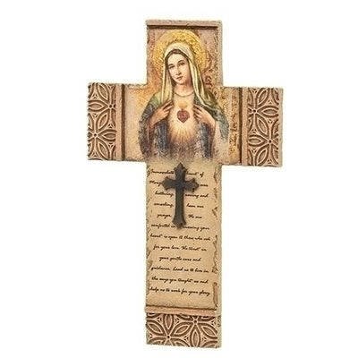 Immaculate Heart of Mary Wall Crucifix  8