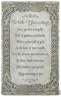 Irish Blessing Wall Plaque (8 x 5