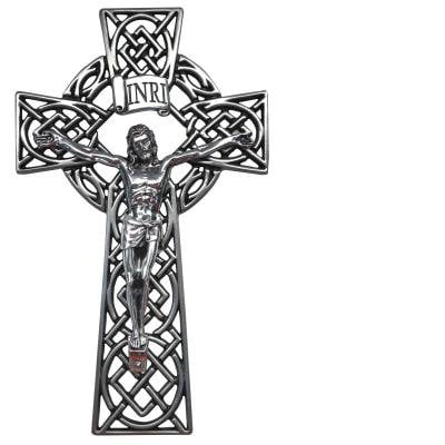 Celtic Knot Wall Crucifix ( 8
