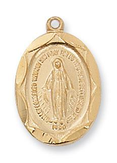 Gold over Sterling Silver Miraculous Medal (5/8