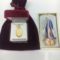 "Gold over Sterling Silver Miraculous Medal 1 1/16"" - Unique Catholic Gifts"