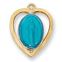 "Gold over Sterling Silver Miraculous Medal (9/16"") - Unique Catholic Gifts"