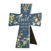"Trust in the Lord Ceramic Wall or Easel Cross 7 3/4"" - Unique Catholic Gifts"