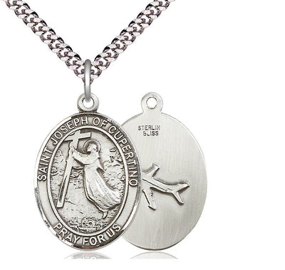 St Joseph of Cupertino Oval Patron Saint Series Medal - Unique Catholic Gifts