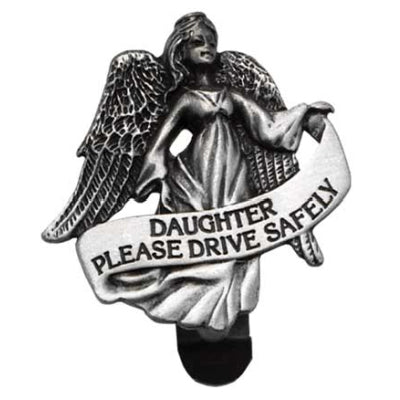 Daughter Drive Safely Visor Clip Carded Bag in 3's - Unique Catholic Gifts