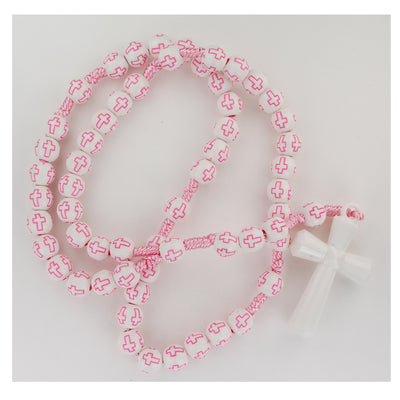 Kid's Pink Cross My First Rosary - Unique Catholic Gifts