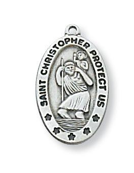 Sterling Silver St Christopher (3/4