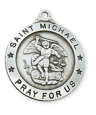 Sterling Silver Saint Michael Medal (1