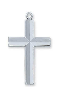Sterling Silver Engraved Cross (1 3/16