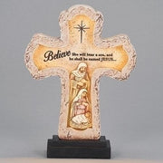 "LED Nativity Cross (9 1/2"") - Unique Catholic Gifts"