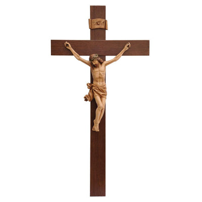 Large Hardwood Wall Crucifix (33