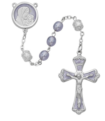 Lavender Pearl Rosary (7MM) - Unique Catholic Gifts