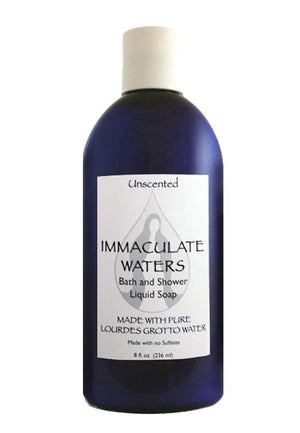 Immaculate Waters Unscented Bath and Shower Liquid Soap - Unique Catholic Gifts