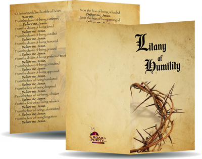 Litany of Humility Holy Card - Unique Catholic Gifts