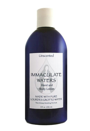 Immaculate Waters Unscented Lotion - Unique Catholic Gifts