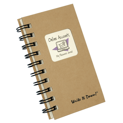 My Password Mini Journal (For Online Accounts)