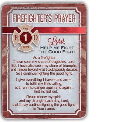 Firefighter's Prayer Desk Plaque - Unique Catholic Gifts