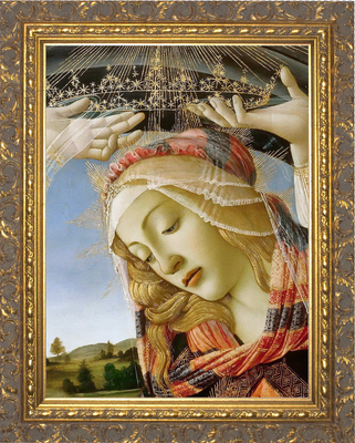Madonna of the Magnificat Gold Framed Art (14
