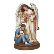 "Male Healthcare Under His Guardian Angel Statue 8 3/4"" - Unique Catholic Gifts"