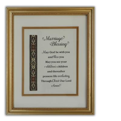 Marriage Blessing Plaque (16 x 12