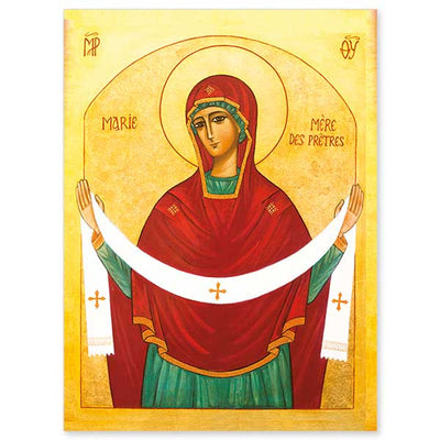 Mary the Mother of Priests Icon Greeting Card - Unique Catholic Gifts