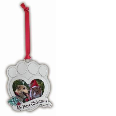 My First Christmas Paw Print Ornament - Unique Catholic Gifts