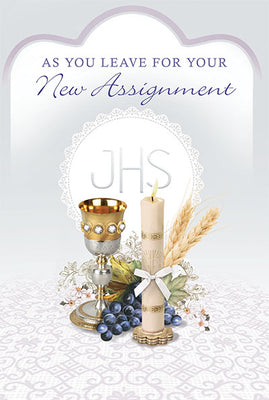 As You Leave For Your New Assignment Greeting Card - Unique Catholic Gifts