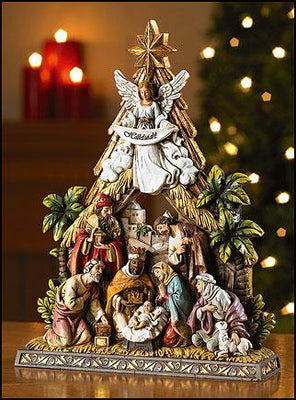 Nativity Christmas Holy Family Figurine( 10 1/2