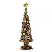 "Nativity Christmas Tree Figurine( 20.75"" H) - Unique Catholic Gifts"