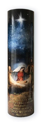Nativity Scene LED Candle with Timer - Unique Catholic Gifts